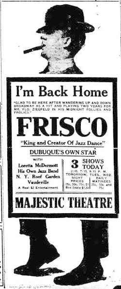 FRISCO, Joe - Encyclopedia Dubuque